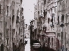 Venice Canal Pen, Ink and Brush