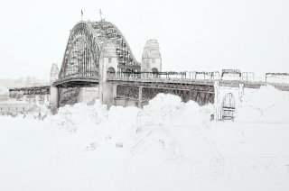sydney-harbour-bridge-in-pen-and-ink-completed
