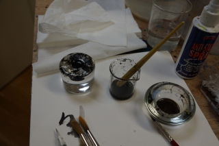 ink-is-diluted-with-water-for-varying-tones